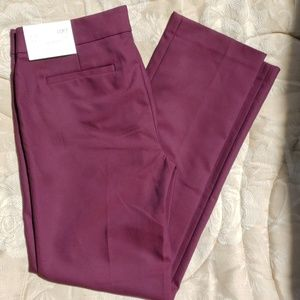 Loft Zoe straight dress pants NWT plum